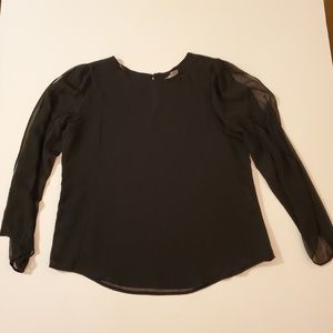 Black Nygard Flowy Long Sleeve Top Size Medium
